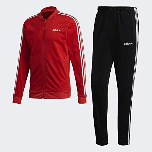 adidas Mts B2Bas 3S C Tuta, Uomo, Top:Scarlet/White Bottom:Black/White, XS