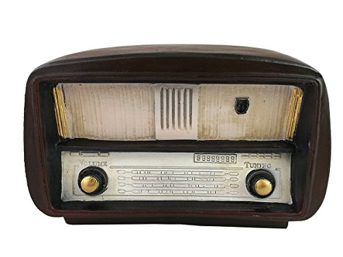 Adorno de radio hecho de resina, estilo retro antiguo, decoración del hogar, regalo de inauguración de la casa