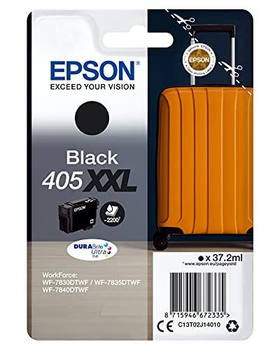 Epson 405XXL 37.2ml XXL Nero Originale imballo con Allarme Radioelettrico/Acustico Cartuccia d'inchiostro per Workforce WF-7830DTWF WF-7835DTWF WF-7840DTWF