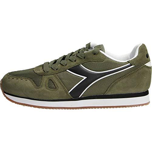 Diadora Simple Run, Chaussures de Gymnastique Homme, Vert (Verde Oliva Bruciato 70431), 44 EU