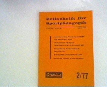 Zeitschrift für Sportpädagogik 2/77
