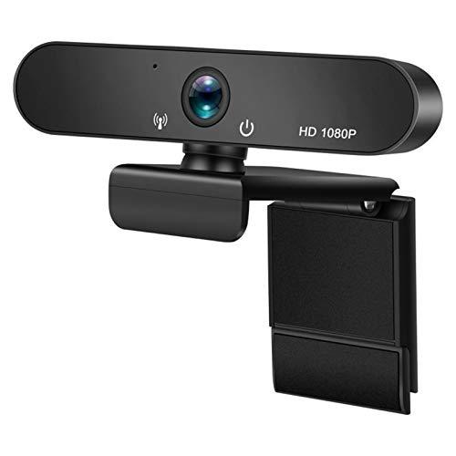 1080P HD Webcam Incorporada De Dos Micrófonos Smart Web Cámara USB De La Cámara Pro Corriente De Escritorio Portátiles PC CAM Juego De iOS De Windows 8/7/10 JNSXT (Color : Black)