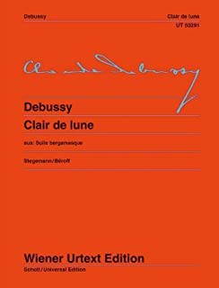 Clair de Lune: Piano: Edited from the First Edition by Michael Stegemann. Fingering and Notes on Interpretation by Michel Beroff (Wiener Urtext) by Claude Debussy (2012-08-15)