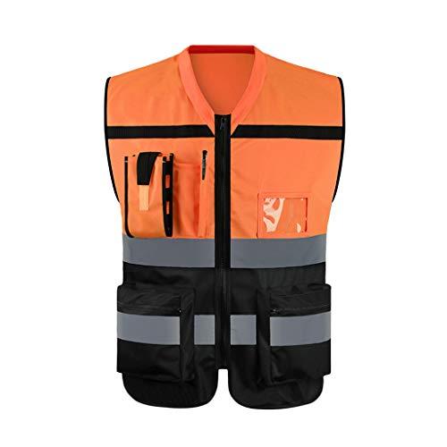 Gilet réfléchissant de sécurité haute visibilité Gilet haute visibilité for homme - Jaune, gilet réfléchissant for chantier de construction Veste de protection for la sécurité routière et vestes fluor