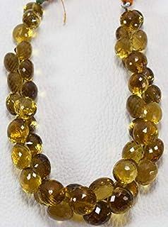 Jewel Beads Natural Beautiful jewellery Natural Bear Quartz Onion Shape AAA Quality 7.5-10 MM Size 9 Inch Strand BrioletteCode:- JBB-41407