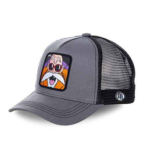 Collabs Gorra Dragon Ball Z Kame Trucker Gris OSFA (Talla única para Todos sexos)