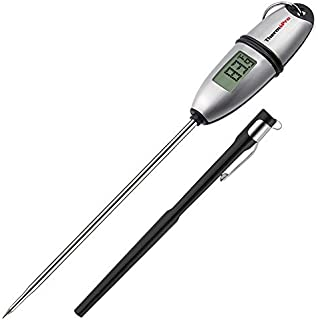 ThermoPro TP-02S Instant Read Meat Thermometer Digital Cooking Food Thermometer with Super Long Probe for Grill Candy Kitchen BBQ Smoker Oven Oil Milk Yogurt Temperature