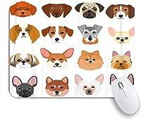 マウスパッド ポメラニアンフレンチテリアのカラフルなの ゲーミング オフィス おしゃれ がい りめゴム ゲーミングなど ノートブックコンピュータマウスマット