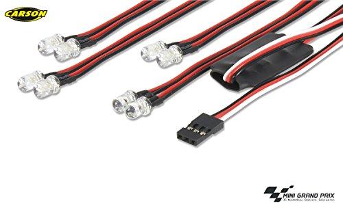 Carson LED Licht-Set 4+4 über Radio, Ersatzteil, Modellbau, Zubehör, Tuningteile, 500906240