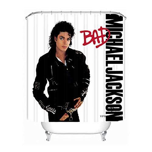 YUJEJ801 Michael Jackson Duschvorhang 180x180 Anti-Schimmel & Wasserabweisend Shower Curtain mit 12 Duschvorhangringen 3D Digitaldruck Farben Bad Vorhang für Badzimmer Dekorieren