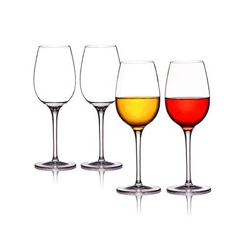 Cicano Copas de vino tinto irrompibles, reutilizables Tritan, de plástico, irrompibles, irrompibles, para vino de tallo largo, 4 unidades