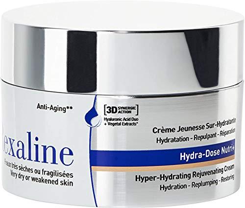 Rexaline - Hydra-Dose Nutri+ - Crema juventud sobre-hidratante - Crema de ácido hialurónico antiarrugas - Tratamiento antiedad - Crema facial de día y de noche - Piel seca- Cruelty free - 50ml, 0