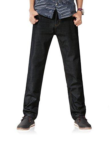 Demon&Hunter Fleece Lined Series Men's Regular Straight Leg Jeans DH8001(36)