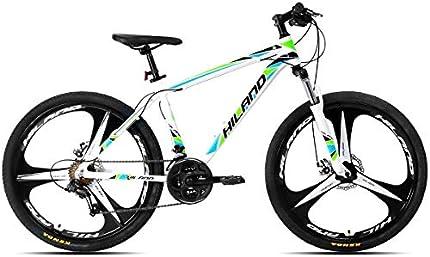 Hiland Bicicleta de montaña de 26 pulgadas de aluminio con marco de 17 pulgadas, freno de disco de 3/6 radios