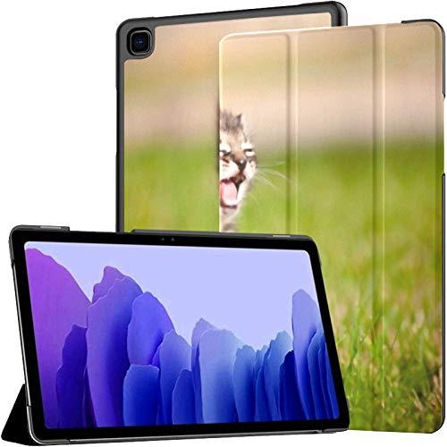 Funda para Samsung Galaxy Tab A7 Tableta de 10,4 Pulgadas 2020 (sm-t500 / t505 / t507), Adorable Gatito atigrado maullido al Aire Libre Funda con Soporte de ángulo múltiple con activación/suspensió