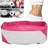 Slimming Belt, Belly Fat Burner,Electric Vibration Fitness Massager, Weight Loss Machine Fat Burning Body Slimming Waist Trimmer Body Massager Belt (Pink)