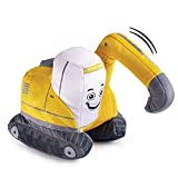 Excavator Plush Toy Truck with Sound | Plush Construction Stuffed Toy | Excavator Toy Truck | Plush Stuffed Construction Truck | Plush Toy Excavator | Excavator Truck Toy for Toddlers