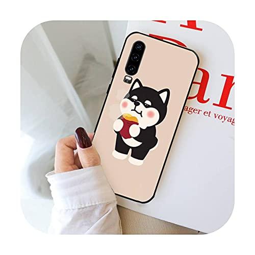 Lindo Shiba Inu Corgi teléfono caso para Huawei P 9 8 10 40 Mate 30 Honor 8 8A 20 20s 9x nova 6se 5t Y9s PSMART lite pro 2017-a9-P8lite P9lite 2017