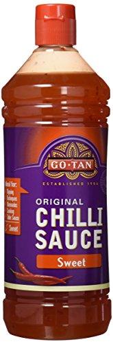 Go-tan Salsa Chili dulce aromática GMO FREE, Origen sudeste asiático, Sabor dulce especiado con toque picante, 1 L