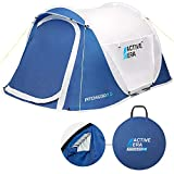 Active Era® Pop Up Tent - Dual Layer Waterproof 2 Person Pop-Up Tent