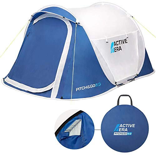 Active Era Pop Up Tent - Dual Layer Waterproof 2 Person Pop-Up Tent – 100% Storm Tested with Advanced Ventilation and Easy-Pitch Construction | Perfect for Camping and Festivals