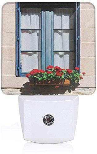 Decoratieve jaloezieën in mediterrane stijl, ramen met jaloezieën, afbeelding in urban levensstijl Franse decoratie compleet blauw grijs slaapkamer sensor wandlamp EU_wit