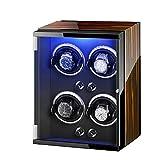 XYSQ Lujo Caja Relojes Automaticos Watch Winder 4+0 Luces Coloridas Almohadas De Relojes Ajustables Motor Silencioso para Hombres Y Mujeres Exhibición (Color : B)
