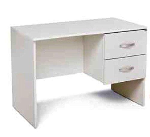 Azur line scrivania per casa e Ufficio Tiffany cm 119 x 64 Bianco con 2 cassetti in Robusto nobilitato