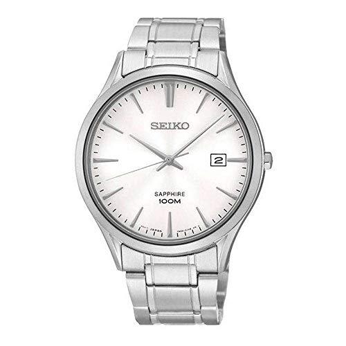 Seiko Quarz Herren-Uhr Edelstahl mit Metallband SGEG93P1
