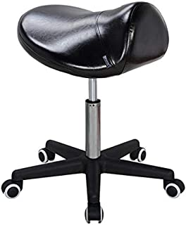 Master Massage Ergonomic Swivel Saddle Rolling Hydraulic Comfortable Adjustable Stool in Black for clinic spas beauty salons debtists classrooms home office