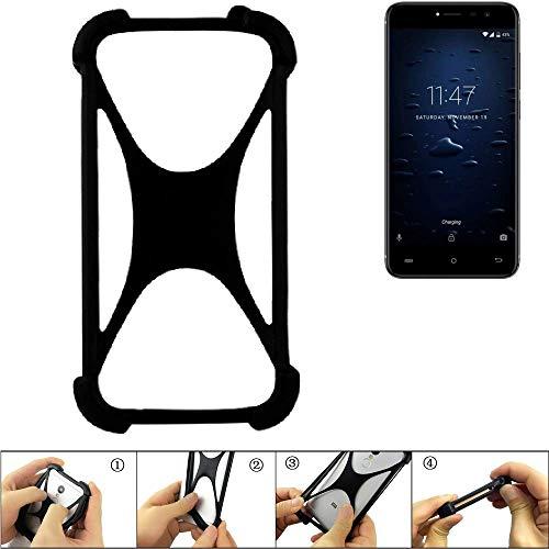 K-S-Trade Handyhülle Kompatibel Mit Cubot Note Plus Schutz Hülle Silikon Bumper Cover Case Silikoncase TPU Softcase Schutzhülle Smartphone Stoßschutz, Schwarz (1x)