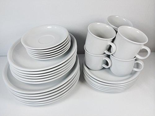 Thomas Trend Weiss 30tlg. Geschirr / Kombi Set mit Becher 0,28ltr. (12tlg. Tafel-Set/Speise-Service und 18tlg. Kaffee-Set/Kaffee-Service mit Kaffeebecher)