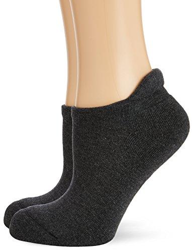 Hudson Damen Sneaker Socken mit Plüschsohle, 025037 Only Plush, 2er Pack, Gr. 35/38, Grau (Graumeliert 0550)