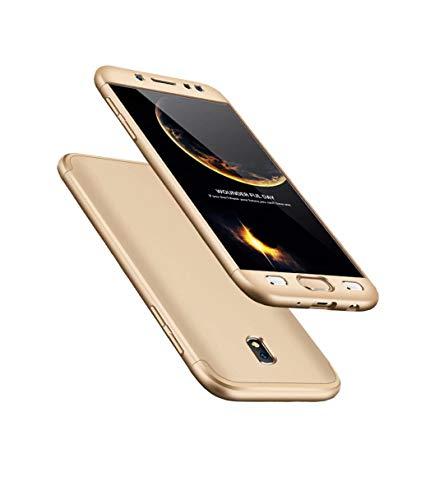 Hoes voor Samsung Galaxy J3 2017/Pro, 360 gouden graden, ultradun, inclusief bescherming, 3-in-1 telefoonhoesje,