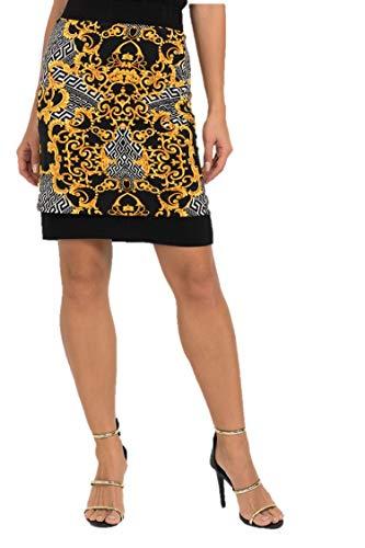 Joseph Ribkoff Black & Multicolor Reversible Skirt Style - 193588 Fall 2019 Hot Styles (14)