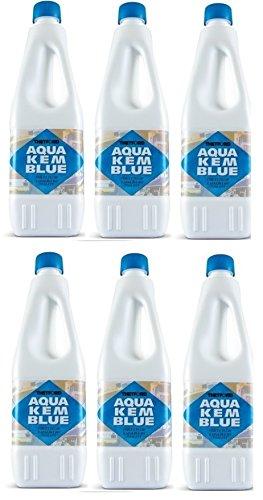 Aqua KEM - Bouteille de 2 litres dégivrante pour réservoir de camping-car, WC chimique, ACque, noir, marque Thetford, pour 6 bouteilles de 2 litres