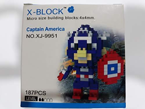 XJ9951 FIGURA HEROE AMERICANO X-BLOCK
