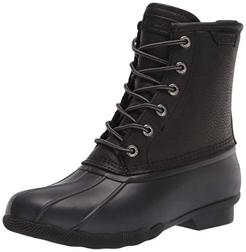 Sperry Men's Saltwater Duck Rain Boot, Black/Black, 10.5