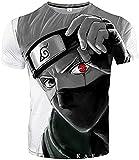 Camiseta de manga corta Anime Naruto con impresión 3D, unisex, Anime Casual Top, para adolescentes, 4-16 años (A3,120)