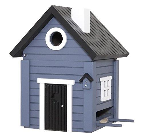 Original Multi Oiseau Nichoir maison Bleu 2 en 1 Nichoir et Mangeoire pour la Suède style