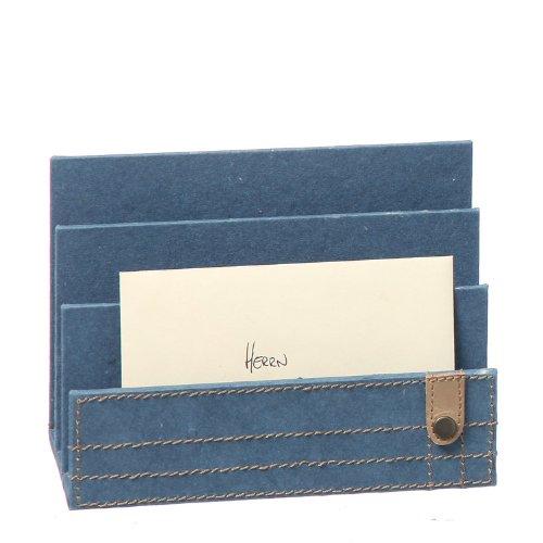Sunflower-Design Utensilo Briefsammler Jeans blau