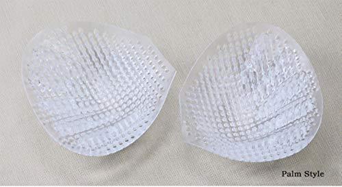 VINER Honeycomb Almohadillas de Silicona en el Pecho Completamente Transparente Transpirable Suave Espesar Ropa Interior Invisible Traje de baño de Mama Push Up Paste, Estilo de Palma