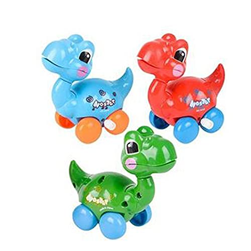 The Dreidel Company Dinosaur Wind-Up Toys, Birthday Party Favors, Novelty and Gag Gifts, 3.25' Inches (3-Pack)