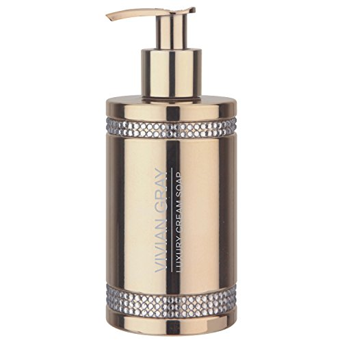 VIVIAN GRAY 3410 'Crystals' Seifenspender mit Creme Seife, gold (250 ml)