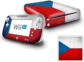Nintendo Wii U Console and GamePad Decal skin Sticker - Flag of Czech Republic