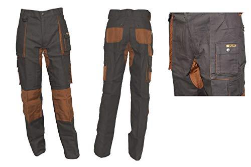 Vee and Kay Profi-Arbeitshose Bundhose Oliv/Braun by Giugiaro Design Größen 42-64, Größe:44