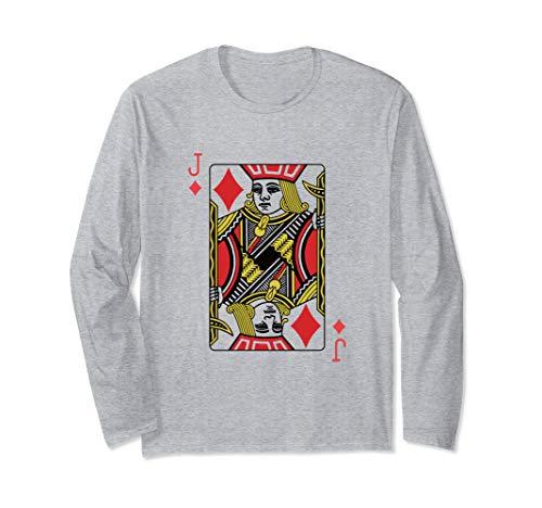 Karo-Bube Spielkarten-Poker Langarmshirt