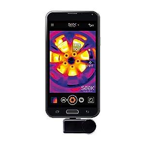 Seek Thermal Compact Preiswerte Wärmebildkamera mit USB-C Anschluss und Wasserdichtem Schutzgehäuse Kompatibel mit Android Smartphones - Schwarz