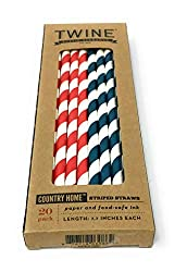 Twine, Straws Country Home Striped, 20 Count