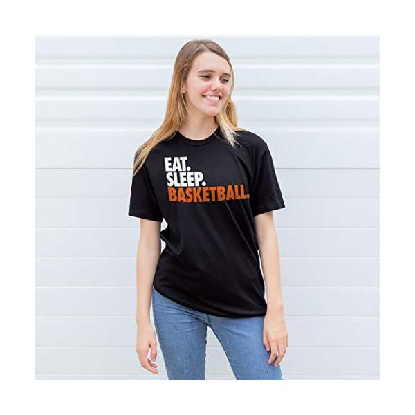 Eat. Sleep. Basketball. Adult T-Shirt   Basketball Tees by ChalkTalk Sports   Multiple Colors   Adult Sizes
